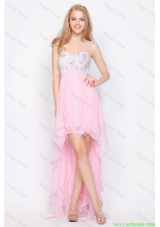 Wonderful Empire Sweetheart High Low Prom Dresses with Beading