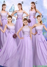 Popular Laced and Bowknot Bridesmaid Dresses with Empire