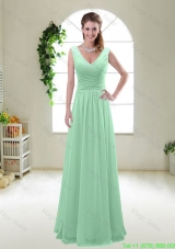 New Style 2016 Zipper up Bridesmaid Dresses with V Neck