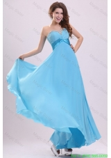 Baby Blue Sweetheart Beading and Ruching Chiffon Bridesmaide  Dress