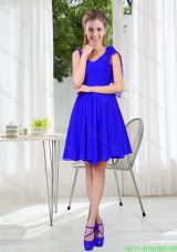 2016 Fall Straps Short Damas Dresses in Royal Blue