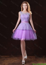 Luxurious Scoop Damas Dresses with Appliques and Belt