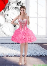 Luxurious Sweetheart Rose Pink Prom Dresses with Beading