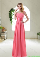 Cheap Watermelon Red Homecoming Dresses with One Shoulder
