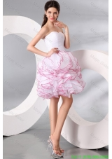 White Princess Sweetheart Knee-length Homecoming Dress