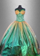 Discount Beaded Multi Color Quinceanera Gowns in Multi Color