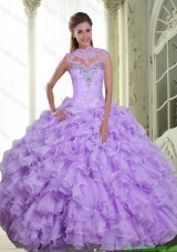 Detachable Beading and Ruffles Sweetheart Quinceanera Gown for 2015