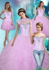 Pretty 2015 Beading and Ruffles Ball Gown Quinceanera Dresses