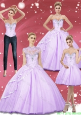 Simple Beading Sweetheart Quinceanera Dresses for 2015