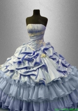 Beautiful Ruffled Layers Quinceanera Gowns with Pick Ups