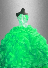 Classical Ball Gown Quinceanera Dresses with Beading and Ruffles