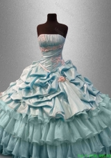 Classical Strapless Quinceanera Dresses with Pick Ups and Beading