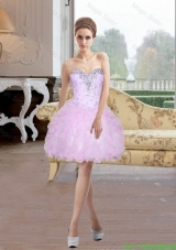 2016 Spring Beautiful Short Sweetheart Prom Dress with Beading and Ruffles