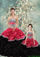 Perfect Strapless Zebra Princesita Quinceanera Dresses in Multi Color