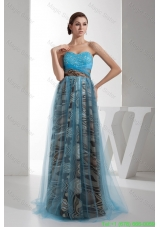 2016 Spring Fashion Sweetheart Beaded Multi-color Prom Gown with Printing