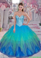 Pretty Sweetheart Sequined Sweet 16 Gowns in Multi Color