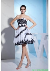 Princess Sweetheart Appliques Short Prom Gown with Organza