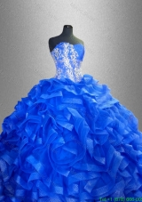 Beaded Sweetheart Luxurious Sweet 16 Gowns with Ruffles
