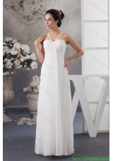 2016 Spring Recommended Elegant Empire Floor-length Wedding Dress in White