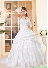 2016  Summer Exquisite Ball Gown Wedding Dresses with Beading