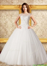 Luxurious Ball Gown Scoop Floor Length Lace Wedding Dress
