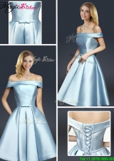 Fall A Line Knee Length 2016 Prom Dresses with Ruching