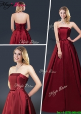 Winter Gorgeous A Line Strapless 2016 Prom Dresses with Brush Train