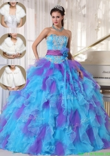 2016 Luxurious Strapless Quinceanera Gowns with Beading and Appliques