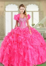 New Style Floor Length Sweet 16 Dresses with Beading and Ruffles