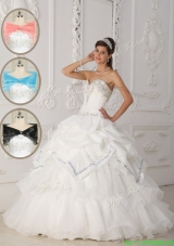 2016 Luxurious White Ball Gown Sweetheart Quinceanera Dresses