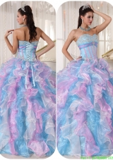 2016 Fashionable Sweetheart Designer Quinceanera Gowns with Ruffles and Appliques