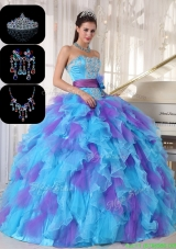 Gorgeous Multi Color SNew Style Quinceanera Dresses with Beading and Appliques