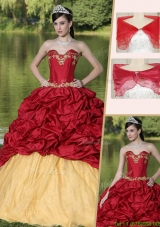 Latest Appliques and Pick Ups Discount Quinceanera Dresses with Brush Train