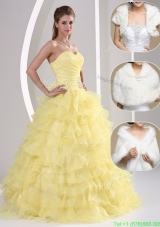 Popular Beading and Appliques Sweetheart New Style Quinceanera Dresses