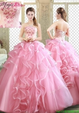 Lovely Strapless Prom Dresses with  Appliques and Ruffles