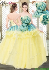 Perfect A Line Strapless Prom Dresses with Bowknot and Ruffles