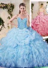 Cheap Ball Gown Sweet 16 Dresses with Appliques and Ruffles