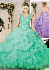 Cheap Sweetheart Appliques Quinceanera Dresses with Brush Train