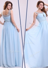 Elegant Empire Straps Sweetheart Prom Dresses with Beading
