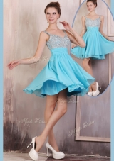 Hot Sale Straps Mini Length Beading Prom Dress for Summer