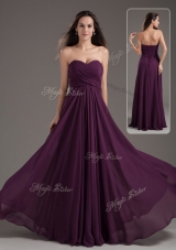 Cheap Empire Sweetheart Ruching Prom Dress in Purple