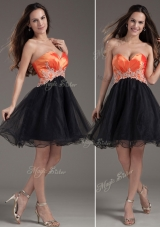 Low Price Princess Sweetheart Prom Dress with Appliques