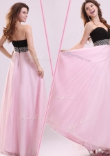 Cheap Empire Sweetheart Beading Prom Dress in Baby Pink