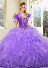 2016 Pretty Sweetheart Beading and Ruffles Sweet 16 Gowns