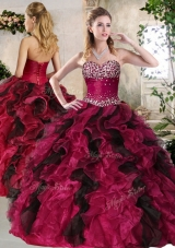 2016 Pretty Sweetheart Multi Color Sweet 16 Gowns with Beading and Ruffles