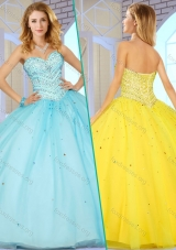 2016 Pretty Sweetheart Quinceanera Dresses with Beading for 2016