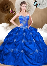 2016 Pretty Sweetheart Quinceanera Gowns with Appliques and Pick Ups