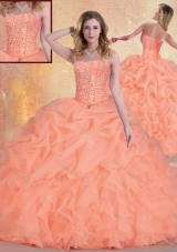 2016 Pretty Sweetheart Quinceanera Gowns with Ruffles and Pick Ups