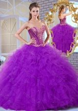 2016 Pretty Sweetheart Ruffles and Appliques Sweet 16 Gowns