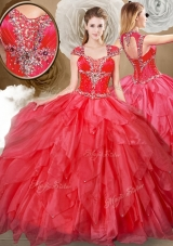 Pretty Sweetheart Beading and Red Quinceanera Dresses